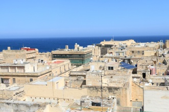 Overviewing Valletta towards Kalkara, Birgu and Cospicua - referred to as the Three Cities